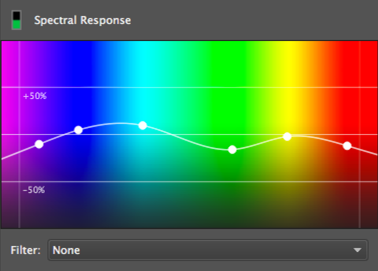 screen shot of spectral response user interface